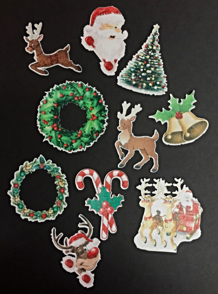 Christmas cut out edible toppers